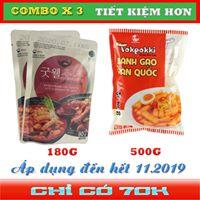 Combo 500g bánh gạo + 2 gói sốt good well multi(Topbokki)- 90g
