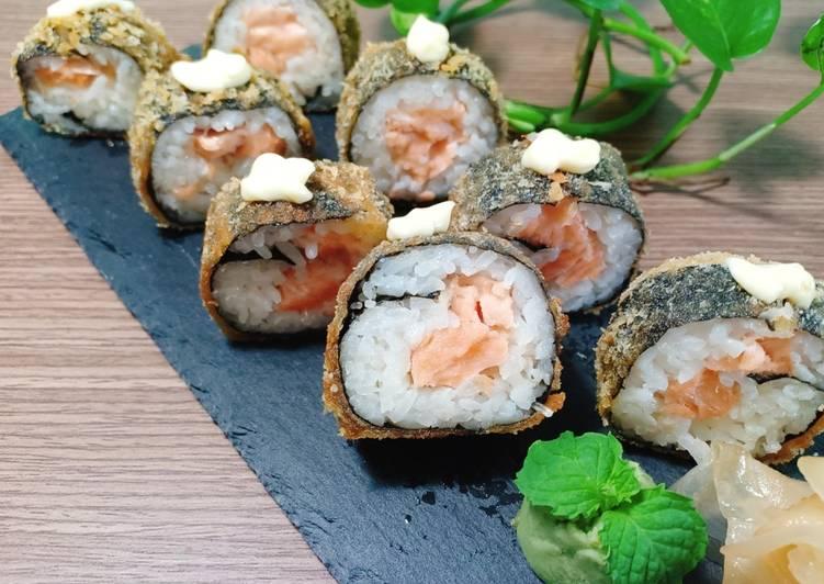Sushi cá hồi chiên xù - Green Seaweed